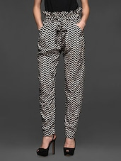 Chevron Printed High Waist Pants - Miss Chase