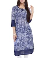 blue cotton kurta -  online shopping for kurtas