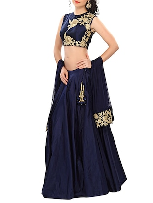 blue net lehenga -  online shopping for lehengas