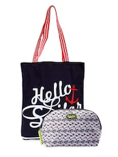 Printed Tote Bag & Pouch Combo - Be... For Bag