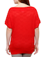 red poly cotton regular top tn0