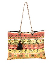 Tribal Printed Cotton Canvas Tote Bag - The House Of Tara