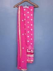 Polka Dot Pattern Zari Embroidered Suit Set - Riti Riwaz