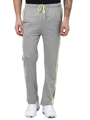 grey cotton track pant
