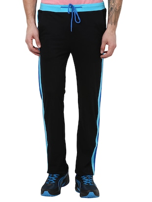 black cotton track pant