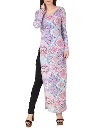 multi colored pure cotton tunic