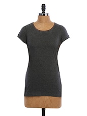 Round Neck Color Block Cotton Top - WAS
