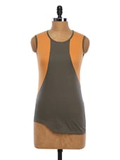 Sleeveless Color Block Sporty Top - WAS