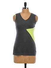 Sleeveless Color Block Cotton Top - WAS