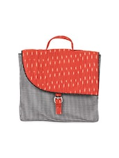 Red Ikat Print Cotton Sling Bag - Allmine