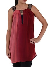 Ombre Sleeveless Georgette Top - Villagsio