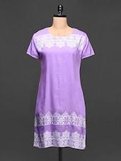 Ethnic Printed Short Sleeve Kurti - Paislei