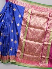 Zari Woven Silk Saree With Contrast Pallu - BANARASI STYLE