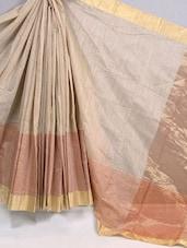 Pin Striped Cotton Silk Saree - BANARASI STYLE