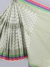 Club Jacquard Weave Jacquard Pure Cotton Saree - BANARASI STYLE
