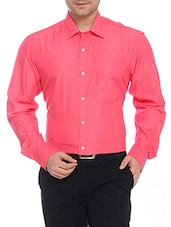 ColorPlus pink Cotton casual shirts -  online shopping for formal shirts