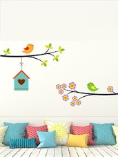 Birds And Birdhouses Multi Color Wall Stickers - By