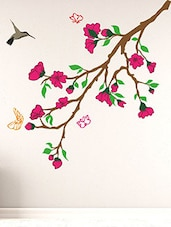 Flower Branches Multi Color Wall Stickers  -  online shopping for Wall Decals & Stickers