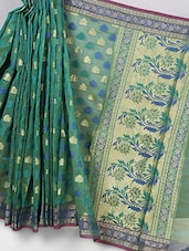 Banarasi Green Kora Silk Saree - Avishi Saree
