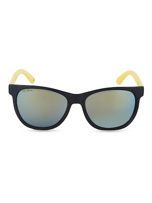 black frame with yellow rim Wayfarer