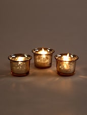 Metallic Gold Glass Candle/Tealight Holder - Hosley