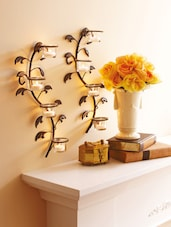 Wall Glass Cup Candle Holders - Hosley