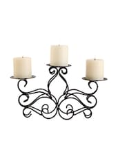 Decorative Metal 3 Candle Holder - Hosley
