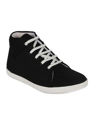 black denim lace up sneakers