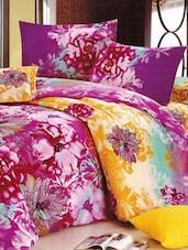Floral Satin-Cotton Double Bedsheet Set - Bedline Home