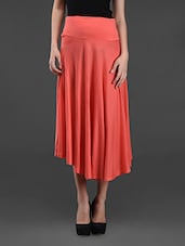 Plain Solid Viscose Skirt - Oxolloxo