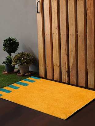 Po Box Accent Stripes Blue&Yellow  Bath Rug -  online shopping for bath mats