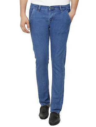 BEN CARTER blue cotton casual trousers