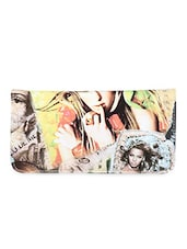 Lady Print Multi Color Wallet - Sale Mantra