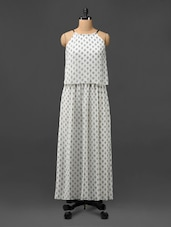 Off-white Printed Poly Chiffon Maxi Dress - Phenomena