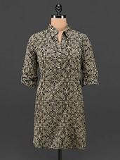 Black Paisley Print Cotton Shirt - ETHNIC