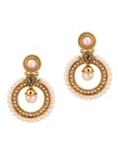 Round Pearl Drop Earrings - Jewel-Addiction