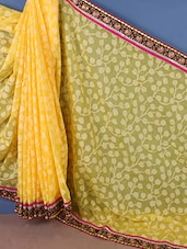 Brasso Embroidered Boarder Saree - Style Mania