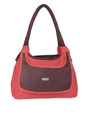 Color Block Leatherette Handbag - Bags Craze