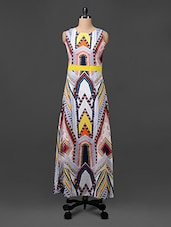 Printed Poly Crepe Maxi Dress - Colbrii