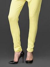 Lemon Ankle Length Leggings - UPTOWNGALERIA
