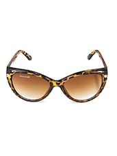 Brown Printed Frame Cat Eye Sunglasses - By