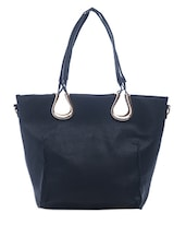 Plain Solid Black Handbag - SATCHEL Bags