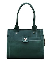 Front Pocket With Contrasting Stitch Leatherette Handbag - FOSTELO
