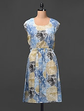 Floral Printed Dress With Elastic Waist - Meiro