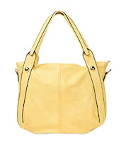Yellow Attachable Strap PU Handbag - ADISA