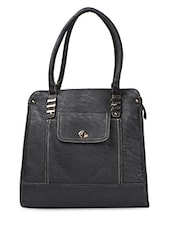 Black PU Flight Handbag - ADISA