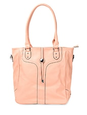 Spacious Pastel  PU Handbag - ADISA