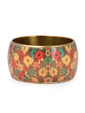 Multicolor Floral Printed Metal Alloy &enamel Bangles - Jewel Paradise