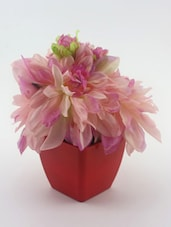 Artificial Pink Daisy In A Pot - Importwala