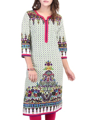 multicolour cotton kurta